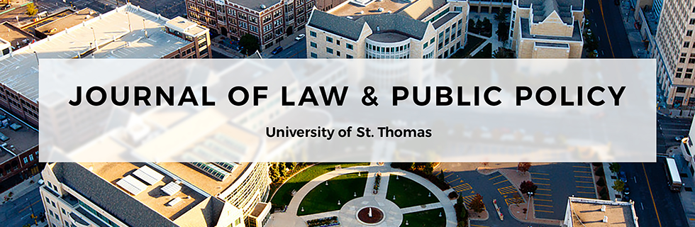 University of St. Thomas Journal of Law and Public Policy